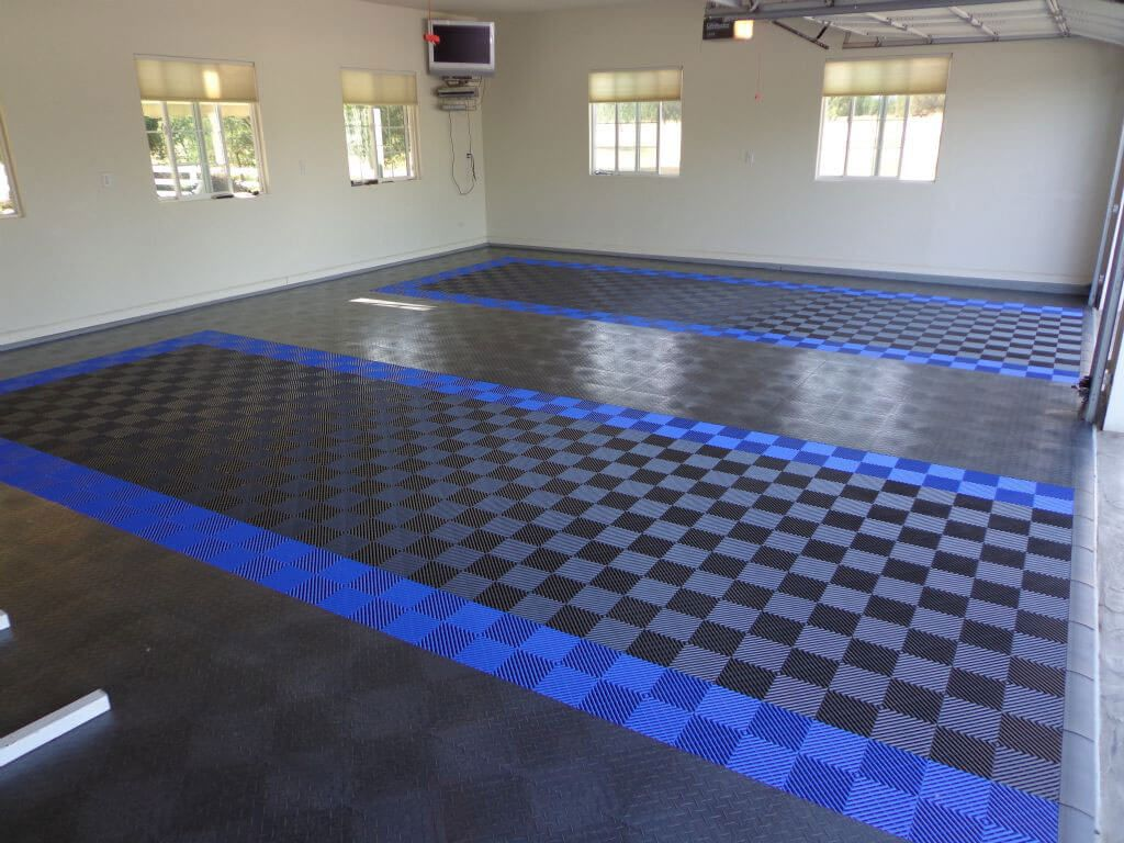 Two Car Garage With Racedeck Diamond And Free Flow Flooring