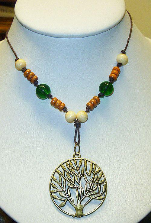 Tree of Life Strung Hemp Necklace  2        by sherrishempdesigns, $13.00