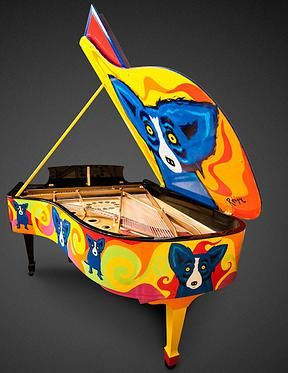 Rodrigue Steinway Blue Dog Piano