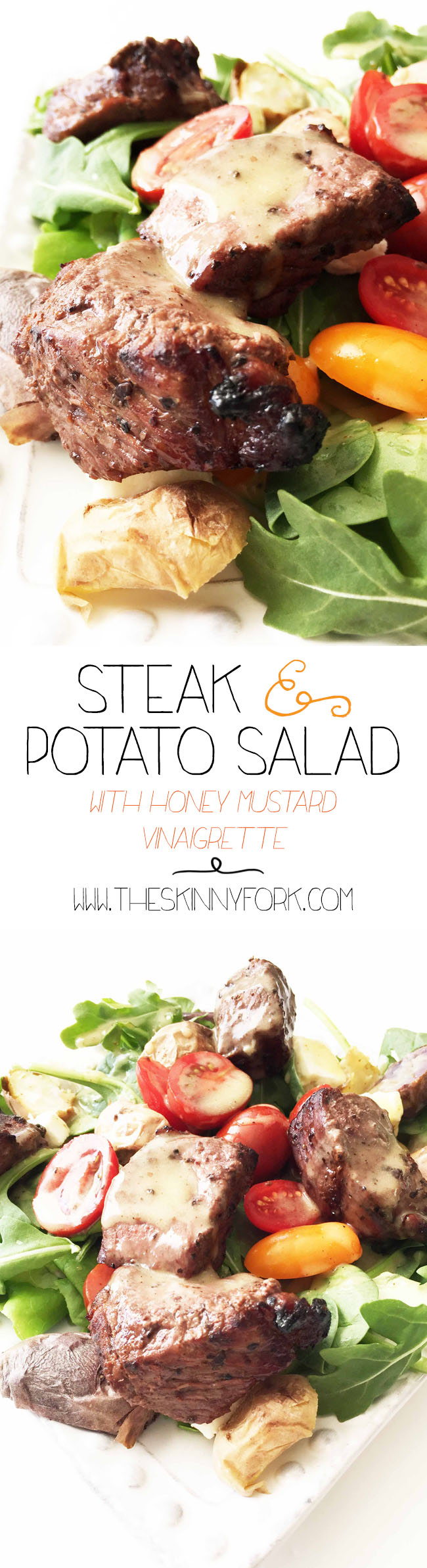 Steak & Potato Salad with Honey Mustard Vinaigrette