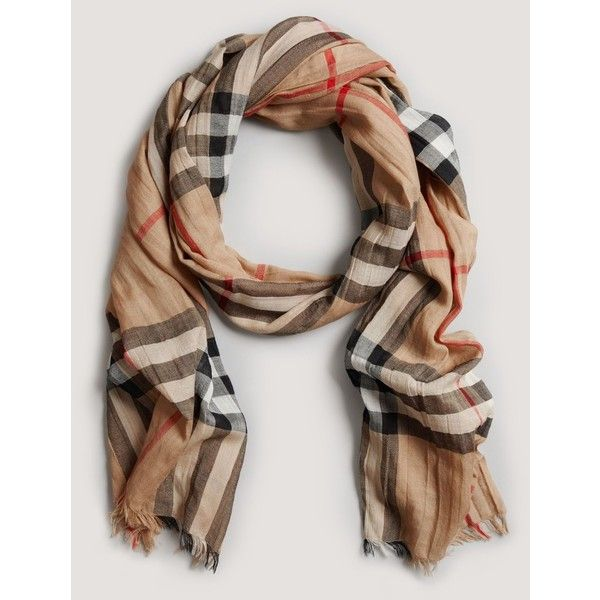 90219221efb6 Burberry Giant Check Gauze Scarf   Products I love!want!need ...