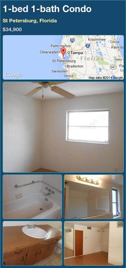 1-bed 1-bath Condo in St Petersburg, Florida ►$34,900 #PropertyForSale #RealEstate #Florida http://florida-magic.com/properties/85492-condo-for-sale-in-st-petersburg-florida-with-1-bedroom-1-bathroom