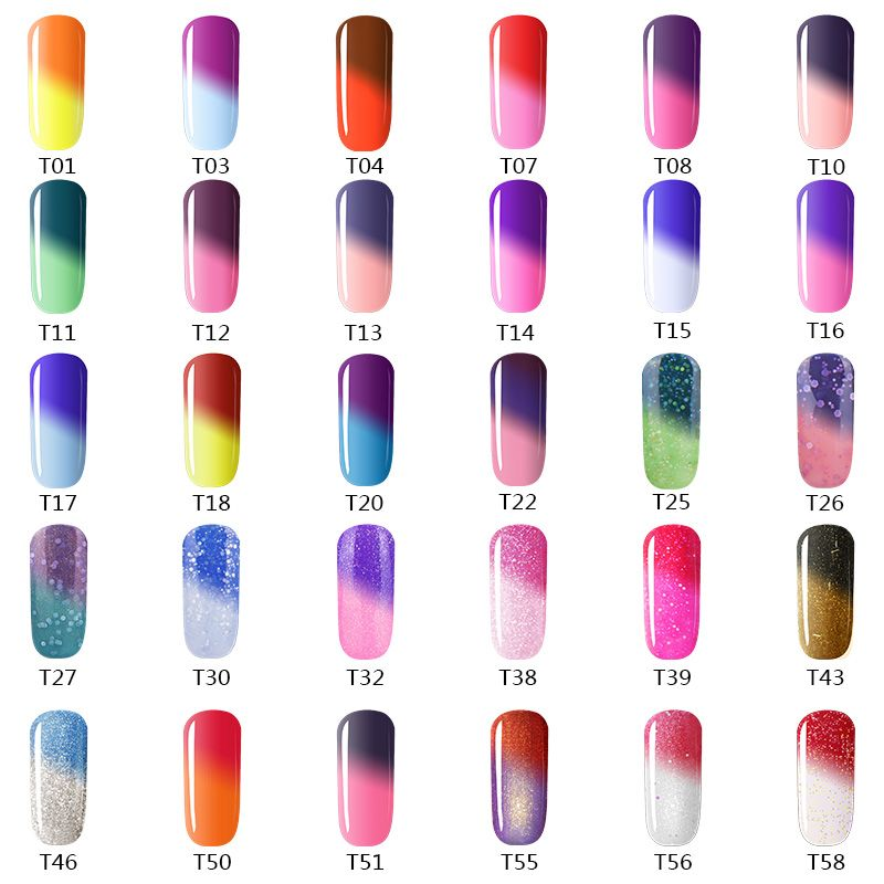 Color Changing Gel Nail Polish: Azure Beauty Uv Temperature Change Color Gel 12ml Long
