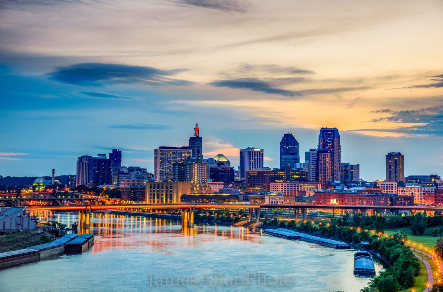 A Personal Favorite From My Etsy Shop Https Www Etsy Com Listing 262229323 St Paul Skyline In May Twin Cities Skyline Urban Landscape Landscape