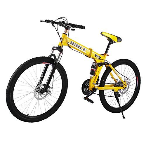 "Unisex Mountain Bike Full Suspension 26/"" 21 Speed MTB fold Bicycle Gym City"