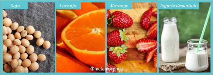soja - laranja - morango - iogurte desnatado