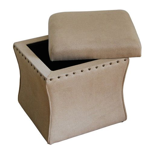 Charmant Cinch Upholstered Storage Cube Ottoman