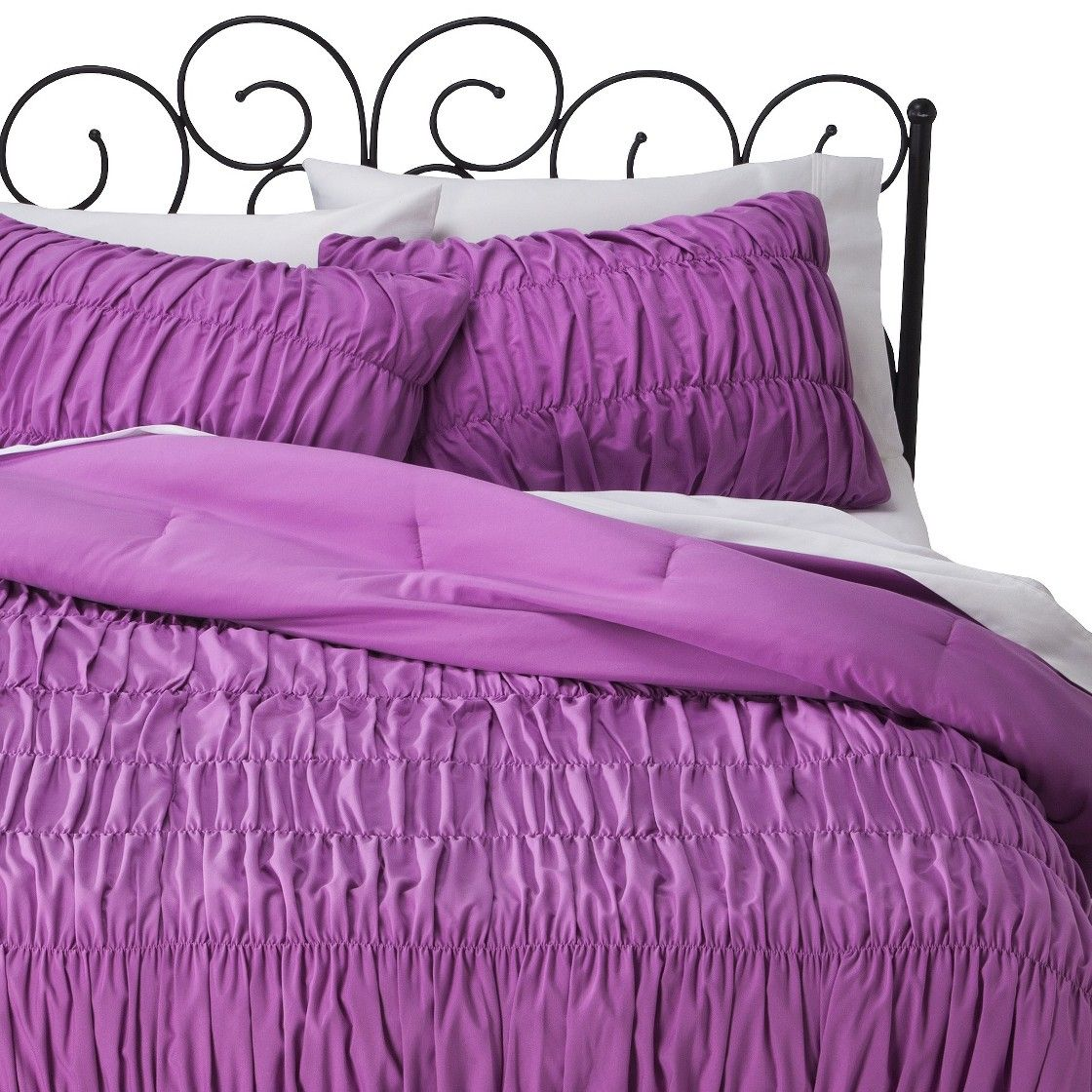 Xhilaration� Ruched Textured Comforter Set - Orchid