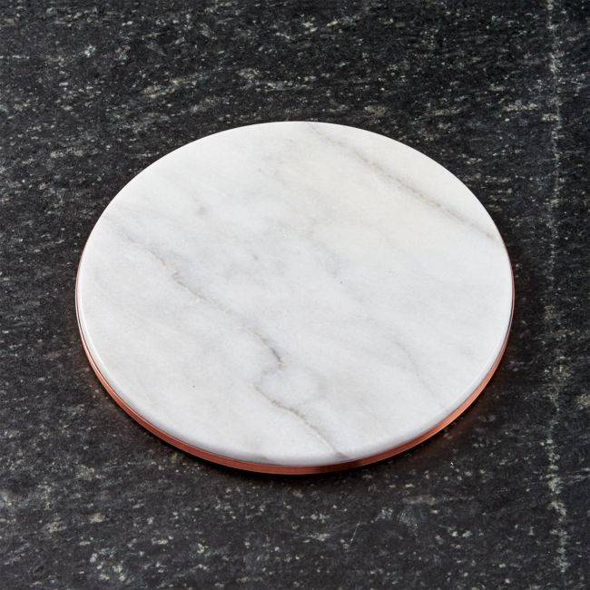 French Kitchen Marble And Copper Trivet French Kitchen
