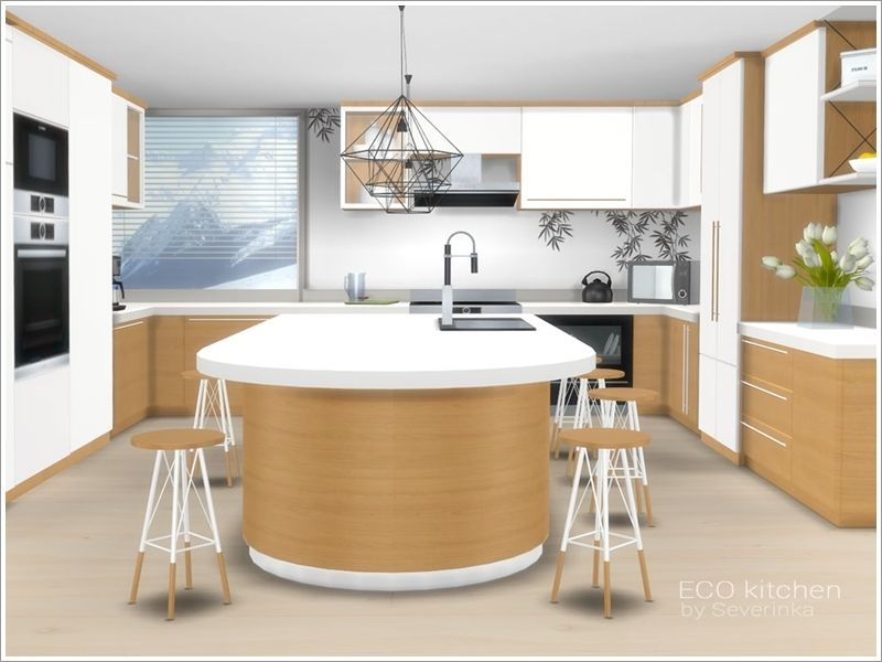 A Set Of Furniture And Decor For The Kitchen In Eco Style Found In