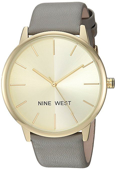 c77326041f9e Nine West Women s Quartz Metal and Polyurethane Dress Watch