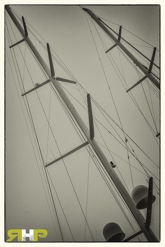 Ships Masts BnW  - All of my photos/designs look MUCH more vibrant and saturated (aka better) when viewed Large on my flickr site - http://www.flickr.com/photos/sizzler68/ - © Rodney Hickey 2013