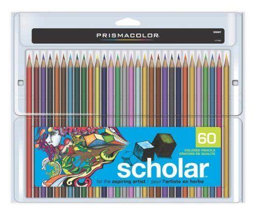 Prismacolor 92808HT  Scholar Colored Pencils 60-Count