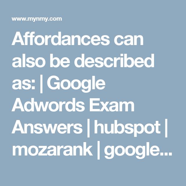 Affordances Can Also Be Described As Hubspot Certification Pinterest