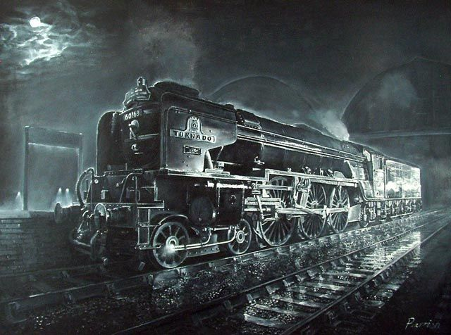 Fine Art Prints of Railway Scenes & Train Portraits - A1 Tornado at Kings Cross