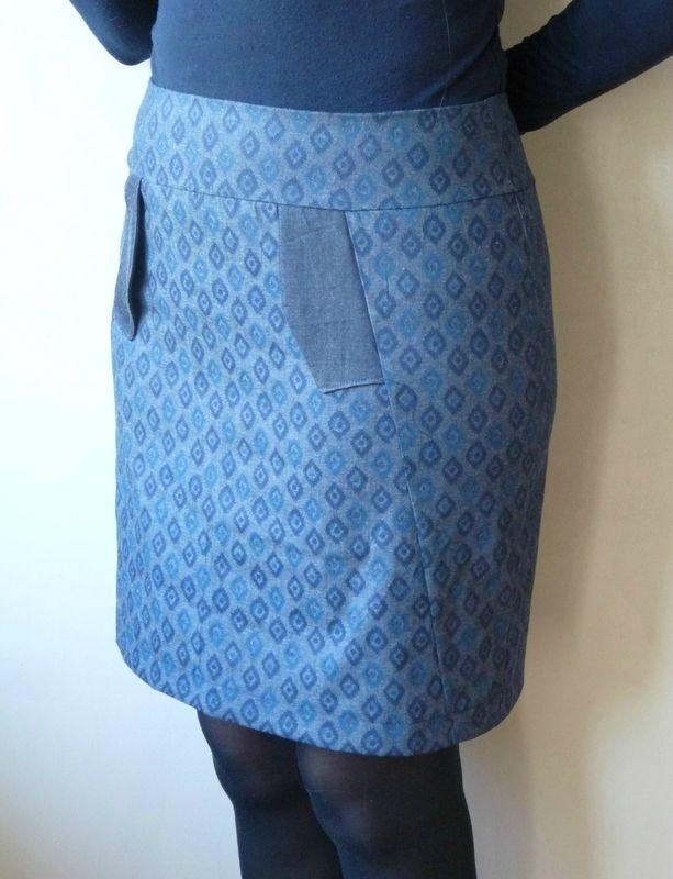 jupe s l nite patron de jupe droite avec poche passepoil e histoire de coudre made by. Black Bedroom Furniture Sets. Home Design Ideas