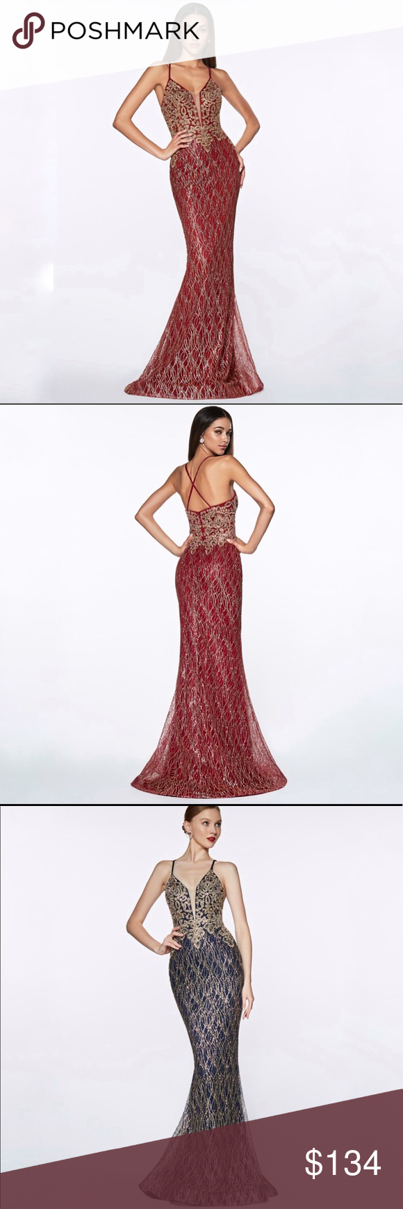 27e40541fe0f CINDERELLA DIVINE ML934 GLITTER LACE MERMAID DRESS Boutique prices are firm  unless bundled. Details: