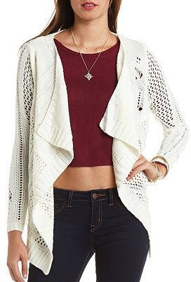 Open Knit Cascade Cardigan Sweater | Fashion | Pinterest ...