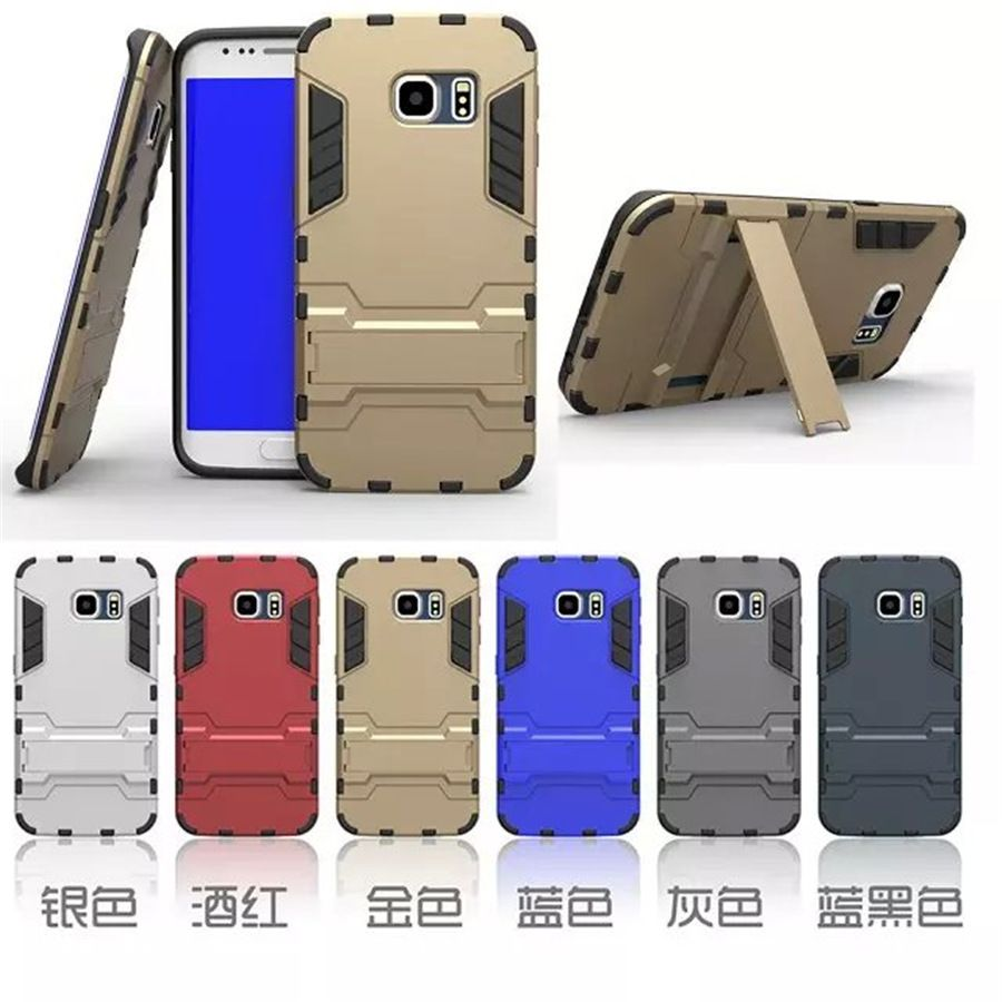 For Samsung Galaxy S6 Edge Plus Cell Phone Cases Stand Luxury Case Protection Armor Heavy Duti Hard Cover Protective Shell Coque Capa Fake