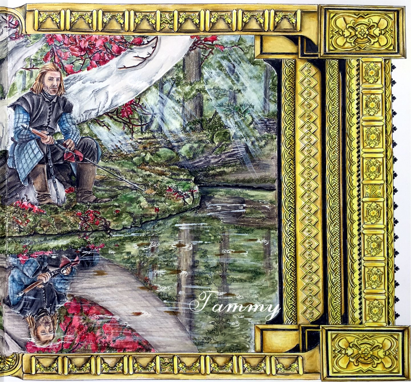 Eddard Stark Double Page Right Page From Game Of Thrones Hbo Hbo Game Of Thrones Harry Potter Movies Ned Stark