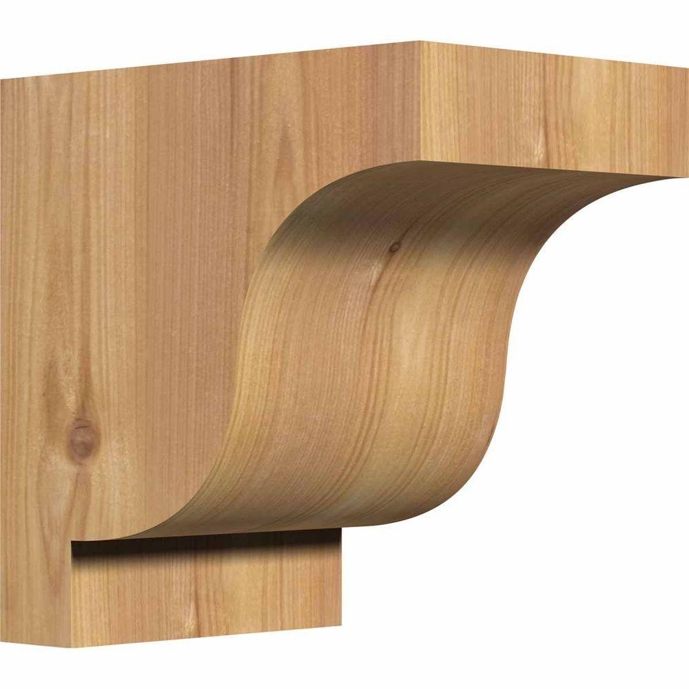Ekena Millwork 5-1/2 in. x 8 in. x 8 in. Western Red Cedar Newport Smooth Corbel