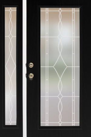 Allure Leaded Glass Privacy Window Film - maybe for sidelight windows by front door?