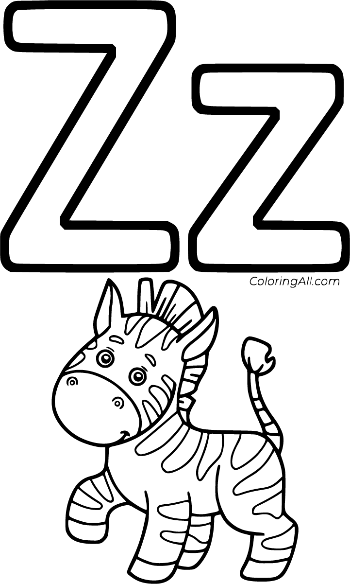 27 Free Printable Letter Z Coloring Pages In Vector Format Easy To Print From Any Device And Autom Zebra Coloring Pages Alphabet Coloring Pages Coloring Pages [ 1201 x 721 Pixel ]