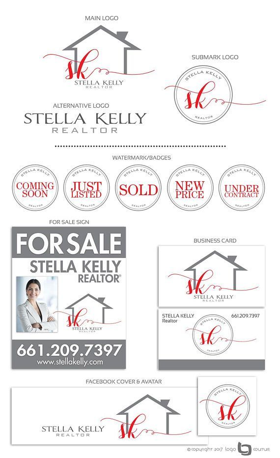 Premade Real Estate Logo, Realtor Logo Design, House Logo, Real ...