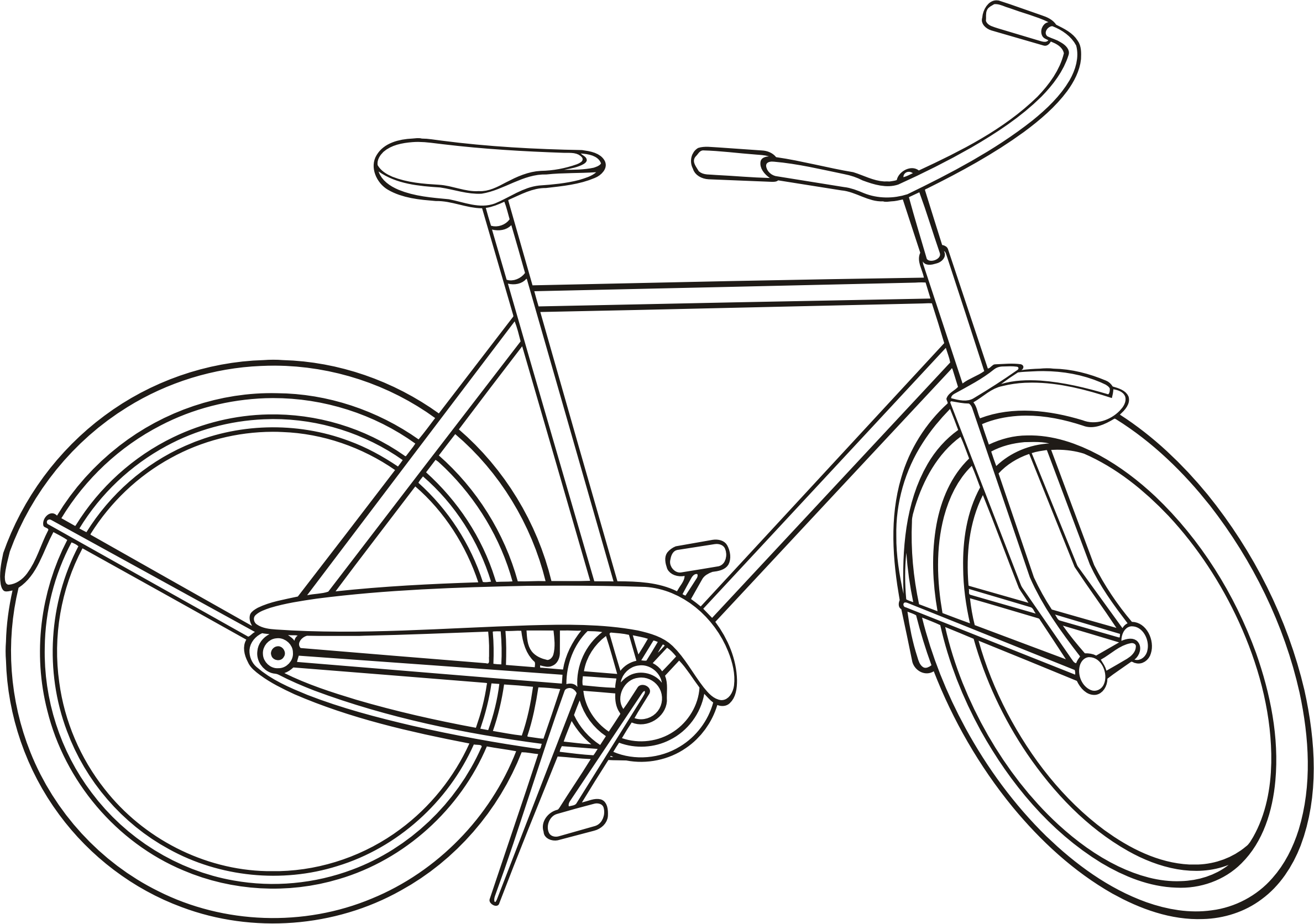 Bike 3 Outline With Images