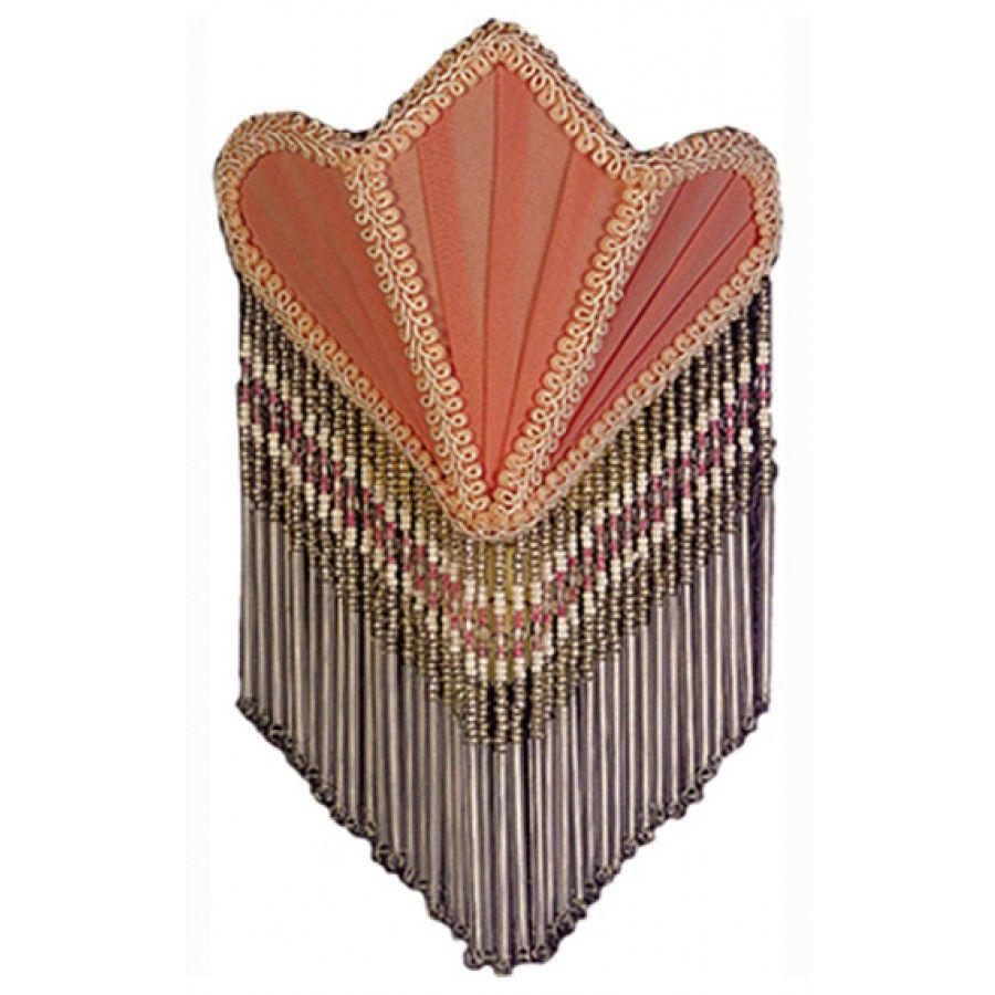 Meyda Tiffany Night Lights Fan Fabric With Fringe Night Light In Pink 14386 Night Light Meyda Meyda Tiffany