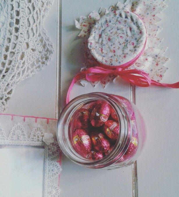Felt frame. ..Mason jar. ..Happy Easter