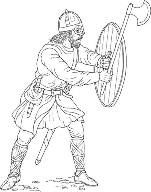 viking coloring pages # 7