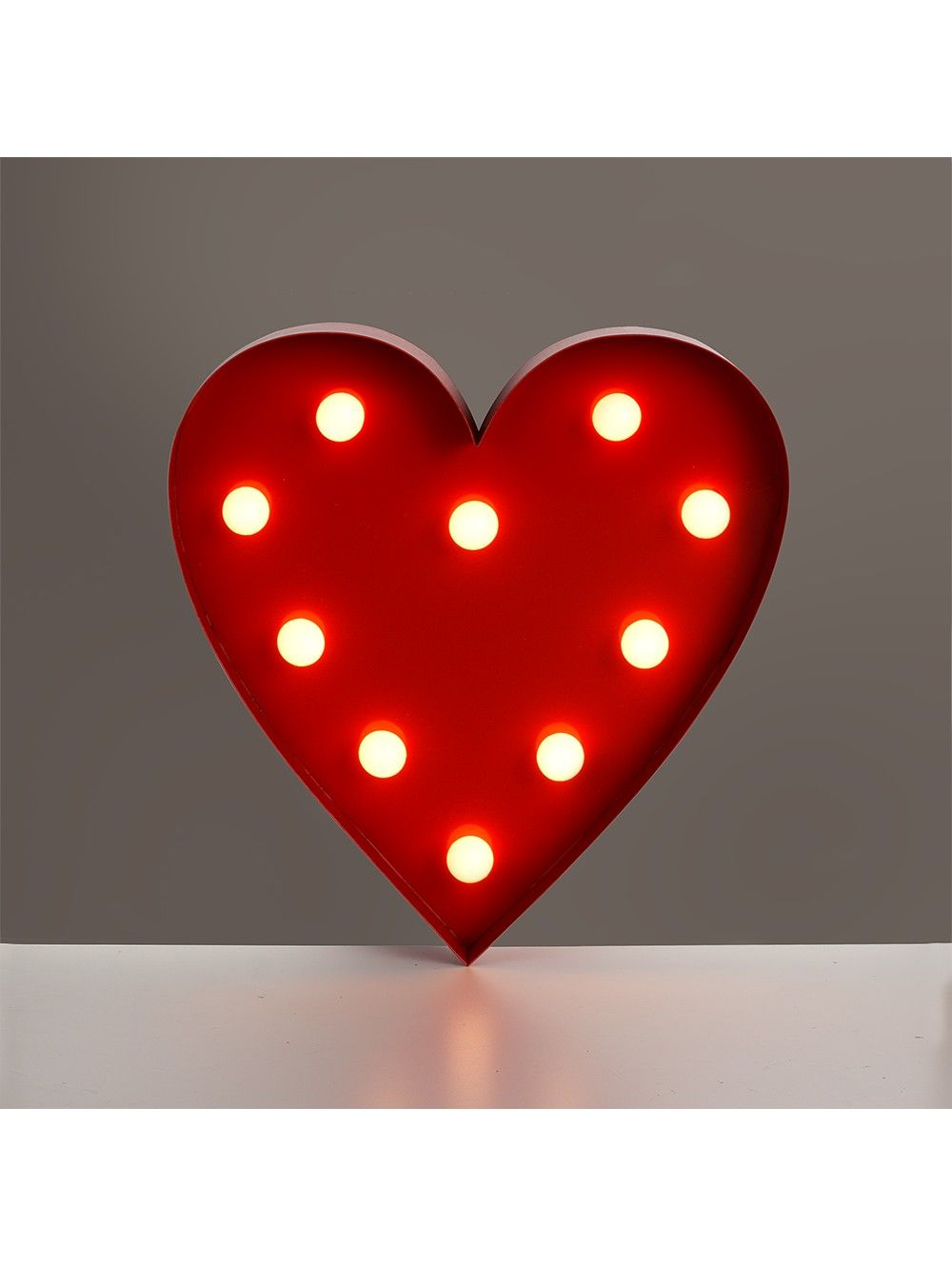RED HEART SHAPED WALL HANGING WITH WARM WHITE LEDS LIGHTs