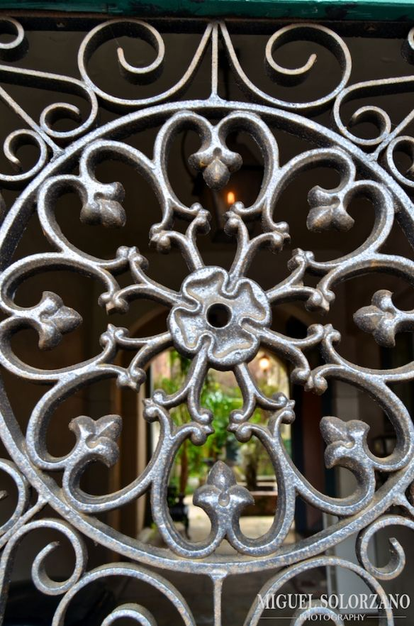 Wrought Iron Work In The French Quarter Of New Orleans