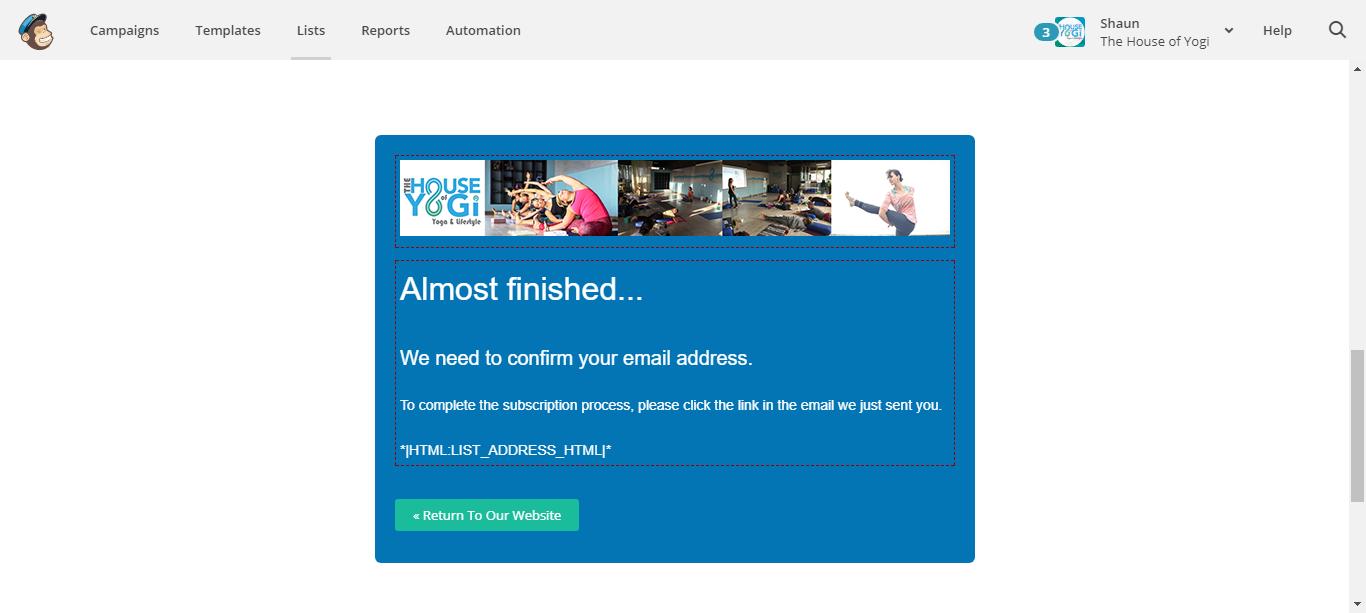 Mailchimp Sign up Opt in Page | Mailchimp Integration
