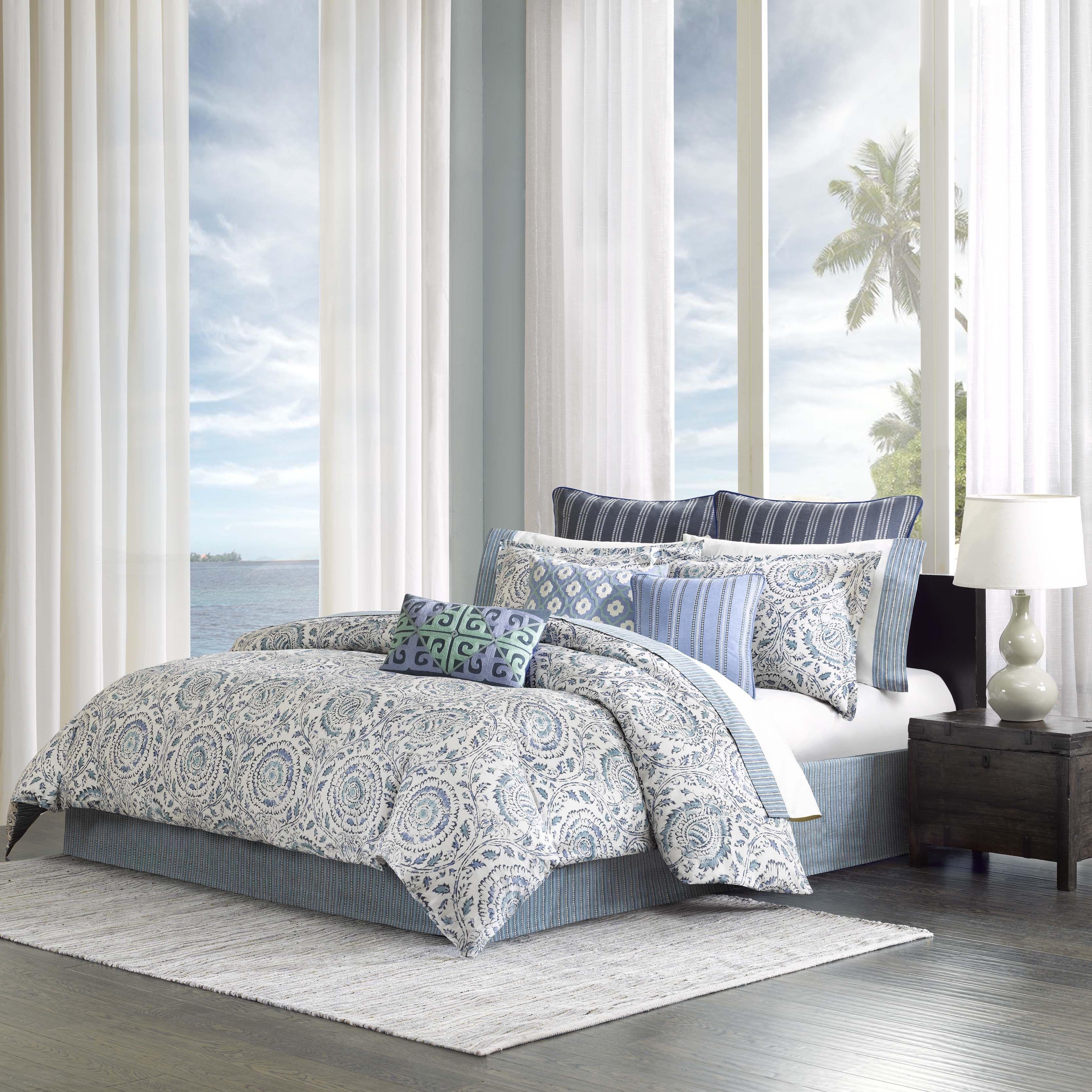 nautica flannel pleasant blue very king sets comforter ecrins lodge