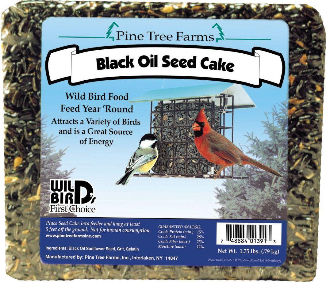 Birds black oil sunflower seed cake by pine tree farms 1