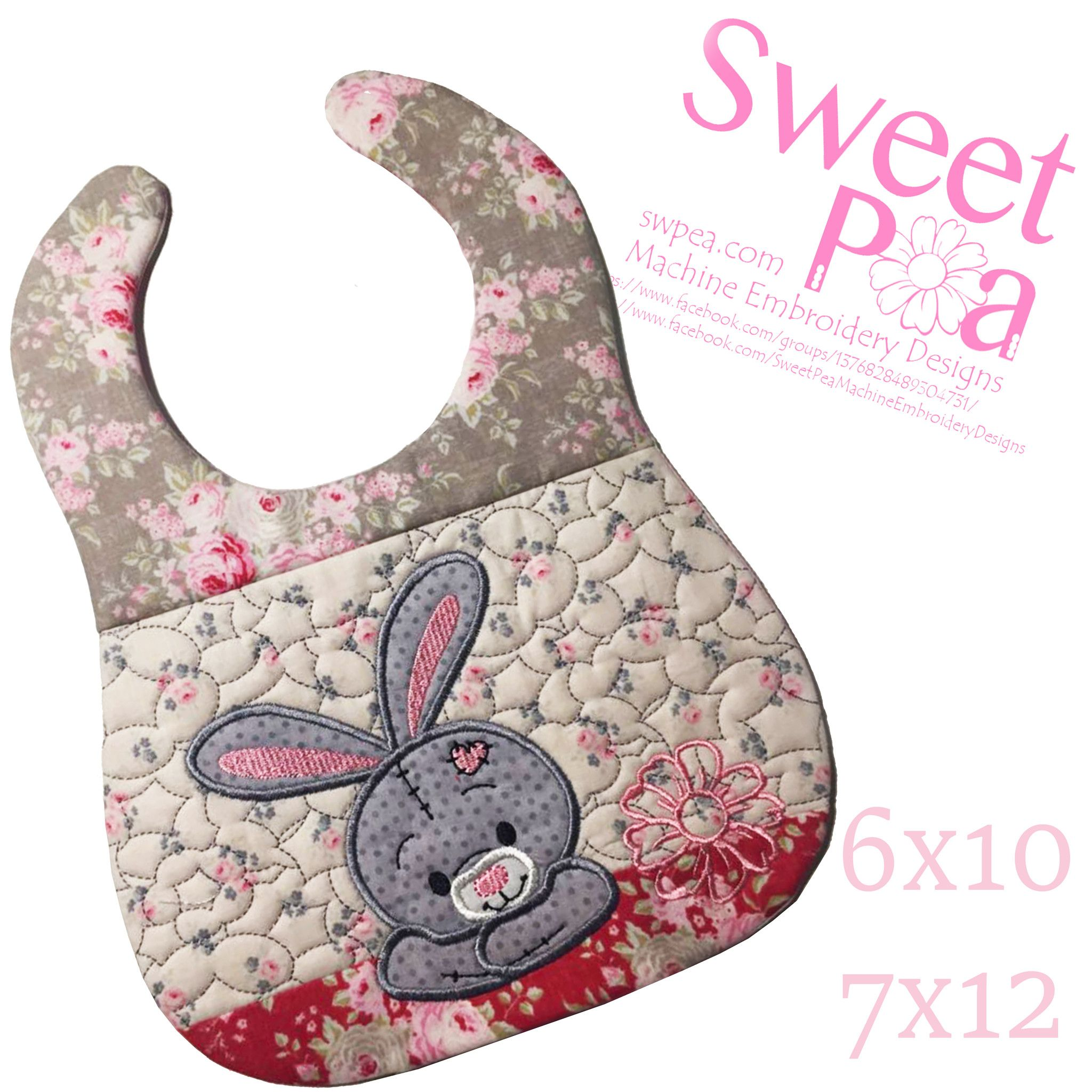 Bunny bib and in the hoop machine embroidery