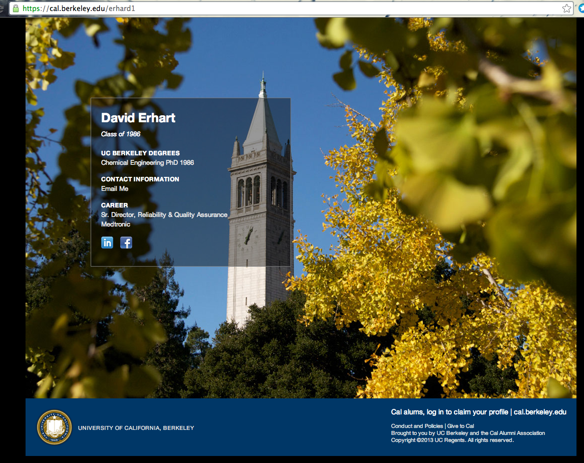 Tip Optimize your Berkeley profile for networking. Add
