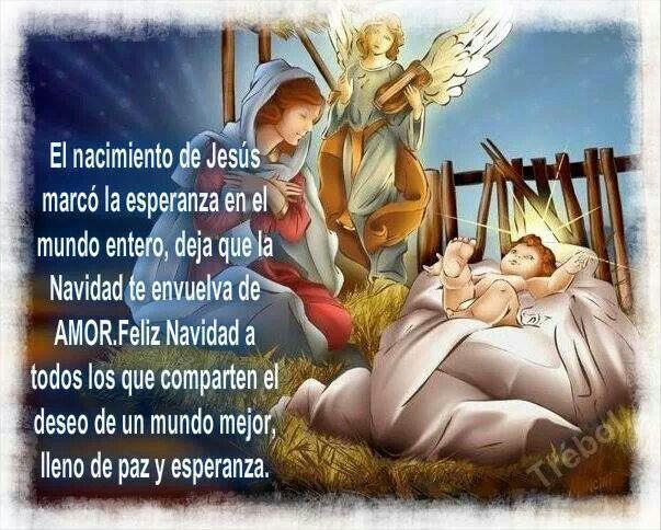 El Nacimiento De Jesus Navidad Pinterest Natal Mensagem De