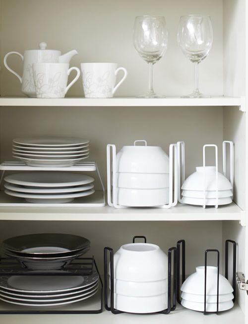 Cupboard Bowl Tidy Large Diy Kitchen Storage Small Kitchen Organization Small House Organization