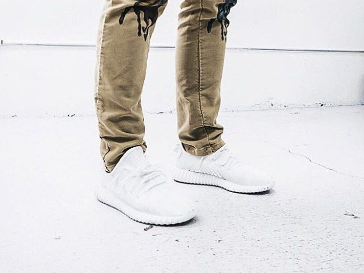 478d73e38bd08 Cheap Adidas Yeezy 350 Boys  Grade School Whiteout
