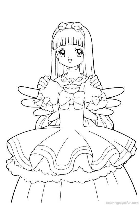 Cardcaptor Sakura Coloring Page With Images Coloring Pages