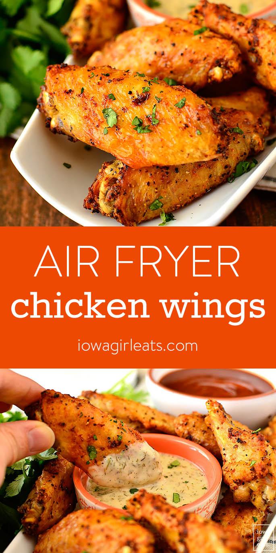 Air Fryer Chicken Wings - Iowa Girl Eats