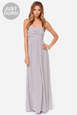 maxi dress grijs