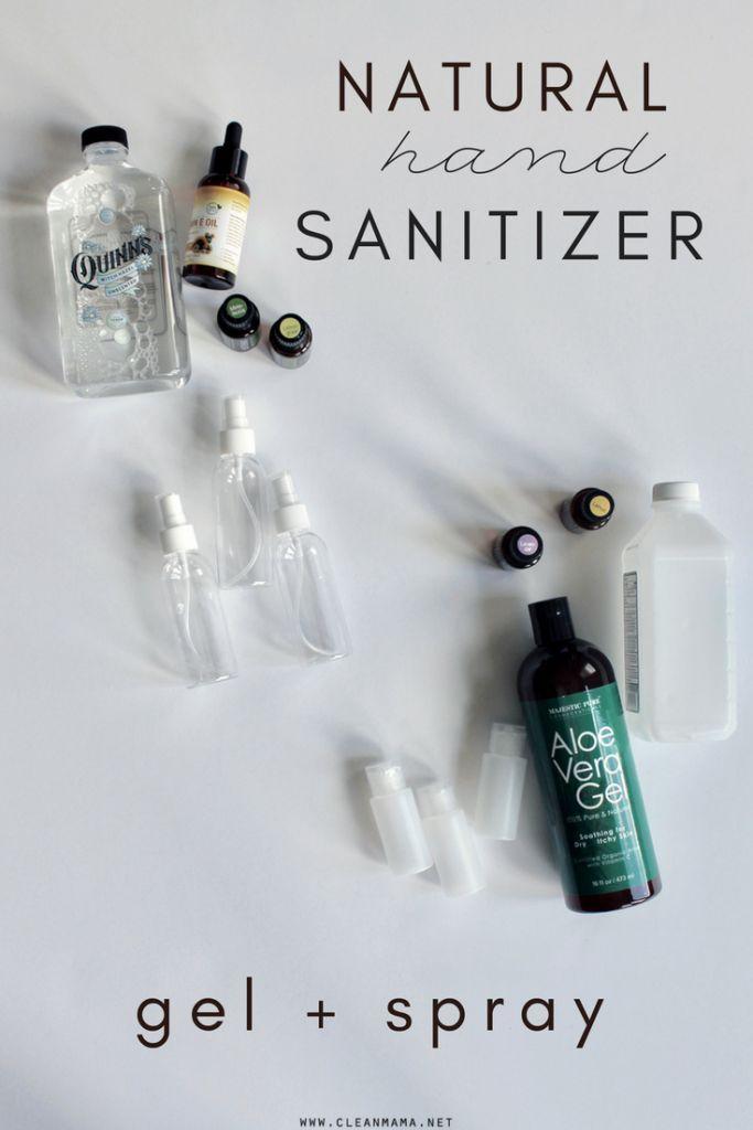 Diy Natural Hand Sanitizer Spray Gel Natural Hand Sanitizer