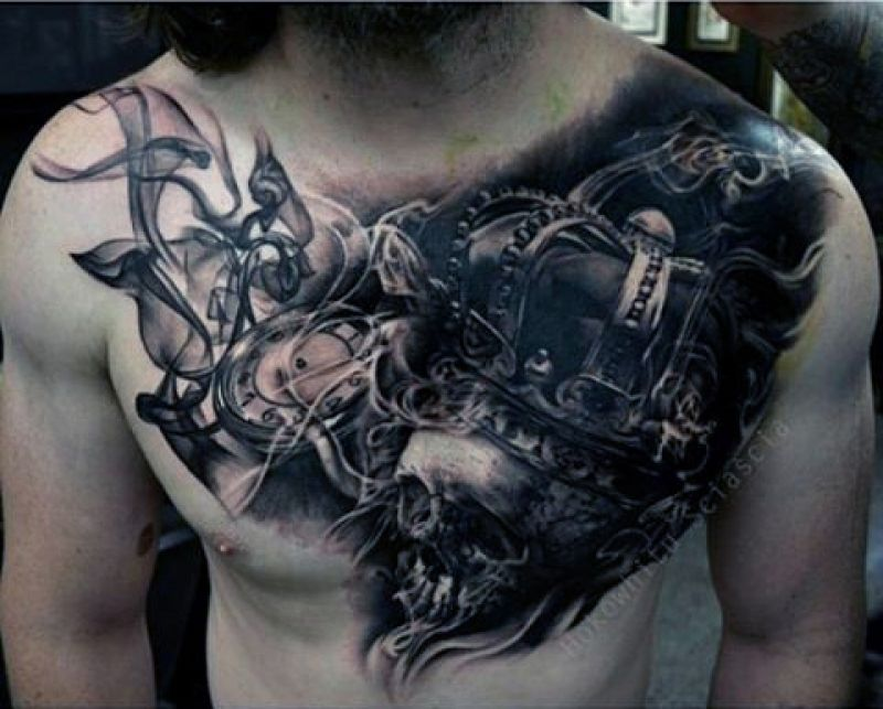 Evil Chest Tattoos 50 Smoke Tattoos For Men Manly Matter To Spirit Designs Smoke Tattoo Tattoos For Guys Chest Piece Tattoos