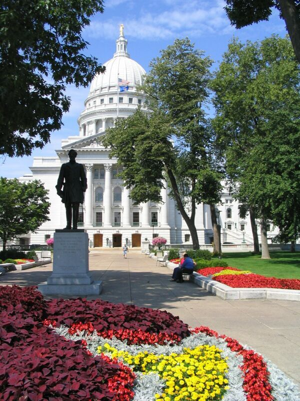 State Capitol Building Madison Wisconsin spent a