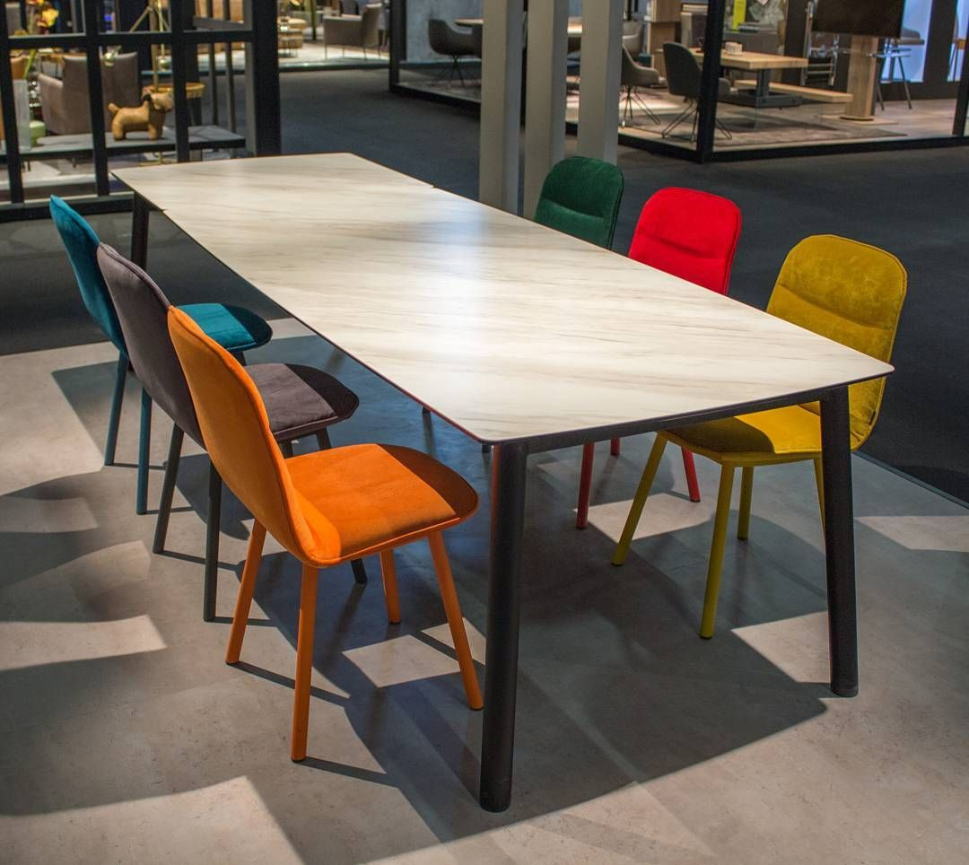 Good Table And A Chairs Together At The Last Fair In #immcologne. #colorful #set  #mobliberica #köln #table #chair #metal #ceramic #calacatta #design  #furniture ... Pictures Gallery
