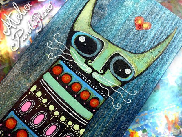 Handgemachte Deko Pop Art Katze by Sara Rodighiero